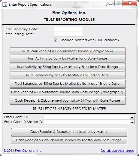Trust Reporting Module